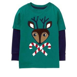 Reindeer Long Sleeve Tee  by Gymboree NWT